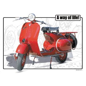 Vespa Classic Scooter F - A3 Poster / Print