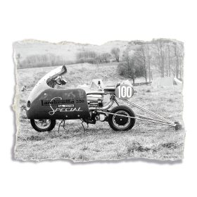 Lambretta 250 Special Racer Scooter - A3 Poster / Print