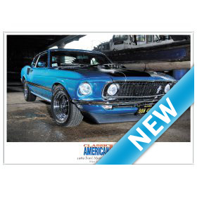 1969 Ford Mustang Mach 1 - High Quality A4 Print Classic American