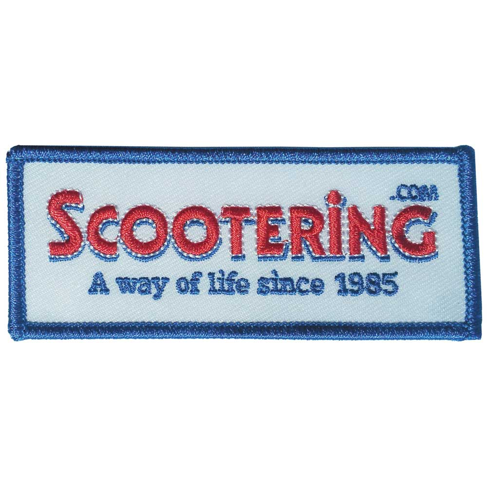 Embroidered Scootering Badge / Patch
